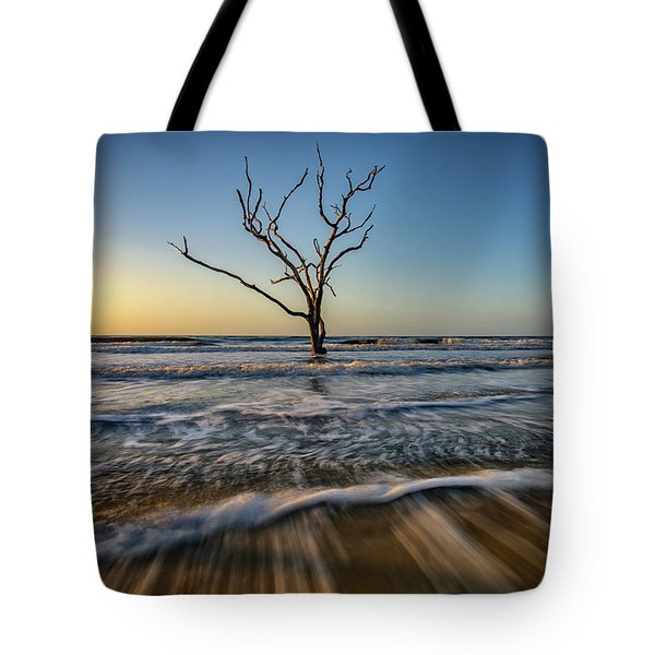 Tote Bag featuring the photograph Alone In The Water by Rick Berk