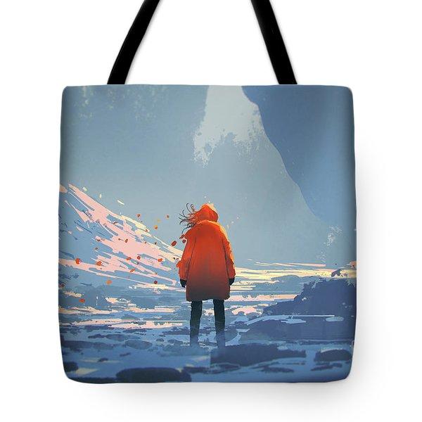 Alone In Winter Tote Bag