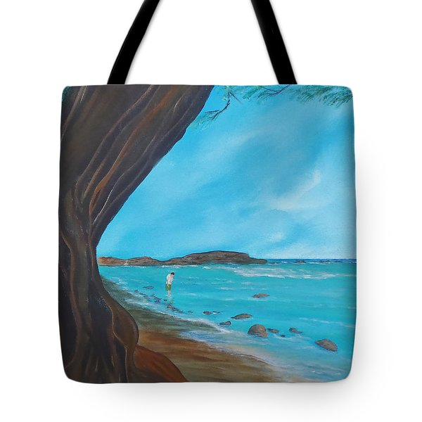 Alone On The Beach Tote Bag