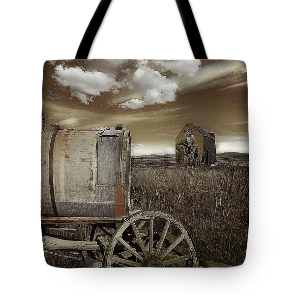 Alone On The Plains Tote Bag by Jeff Burgess