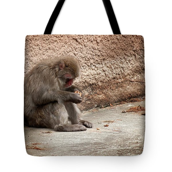 Alone With My Bread Crumbs Tote Bag