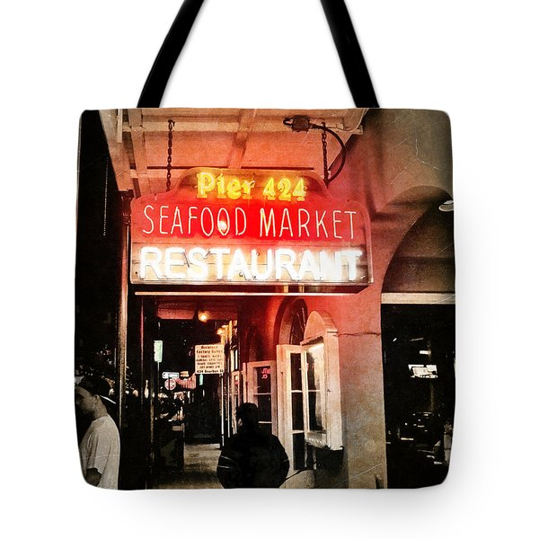 Tote Bag featuring the photograph Along Bourbon Street - New Orleans by Glenn McCarthy Art and Photography