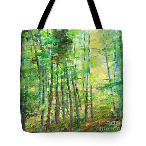 Along Buckslide Road Tote Bag by Karen Sloan