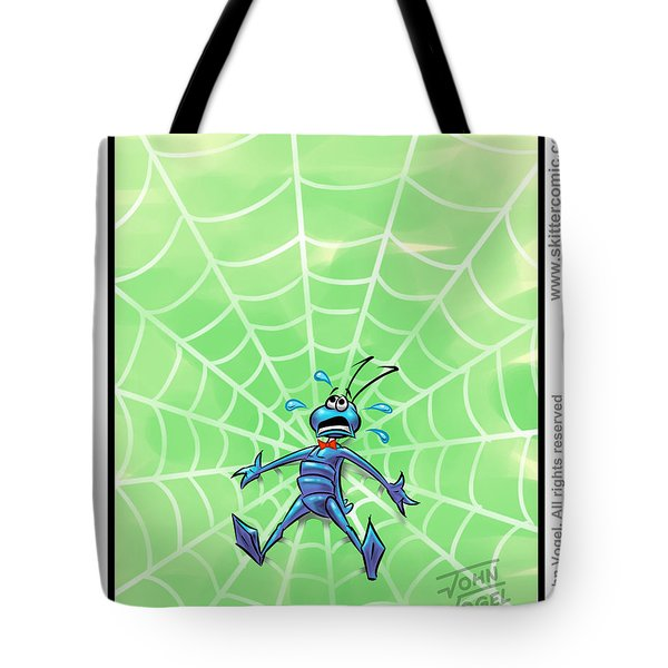 Along Came A Spider Panel Tote Bag