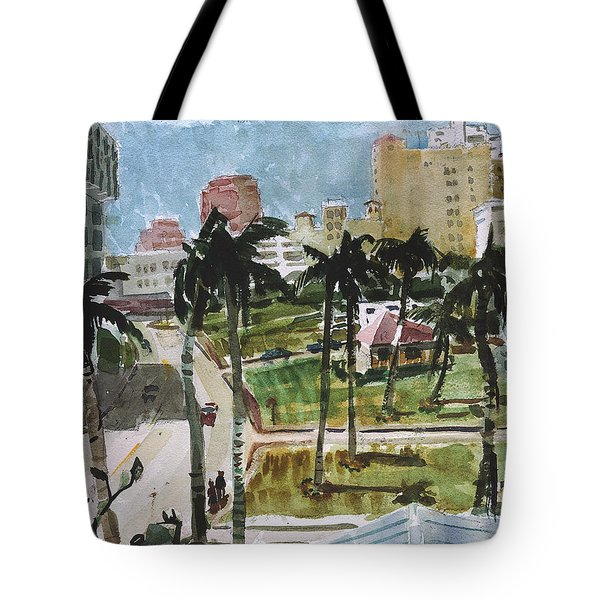Along Flagler Drive Tote Bag