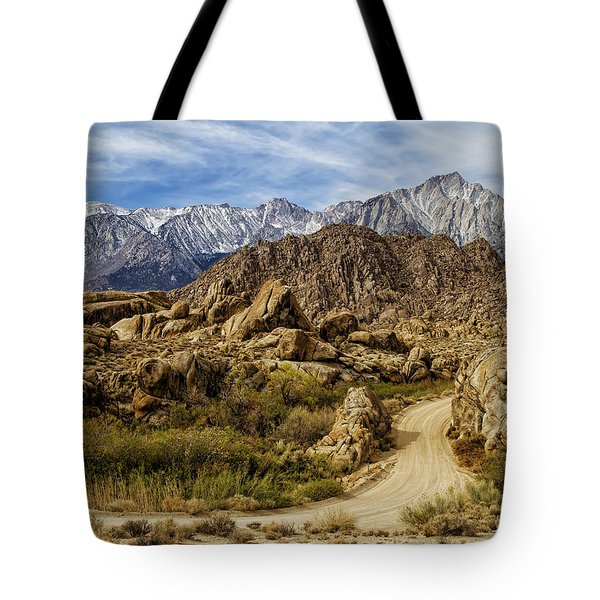 Along Movie Road Tote Bag