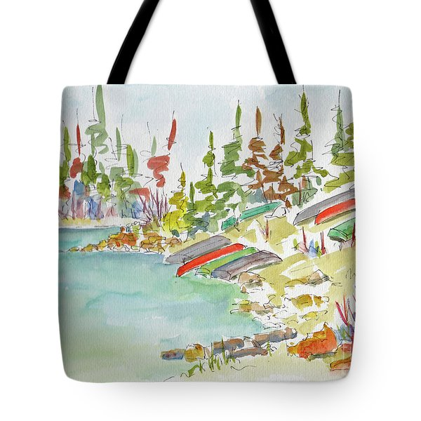 Along Patricia Lake Tote Bag by Pat Katz