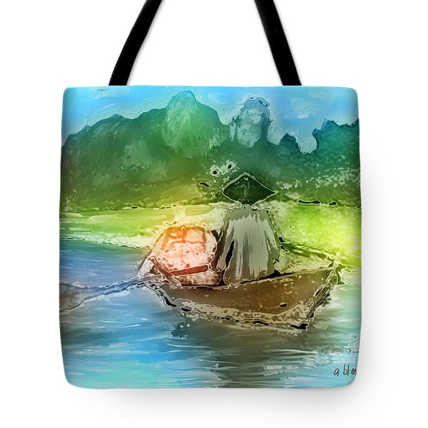 Along The Banks Of Hanoi Tote Bag by Arline Wagner