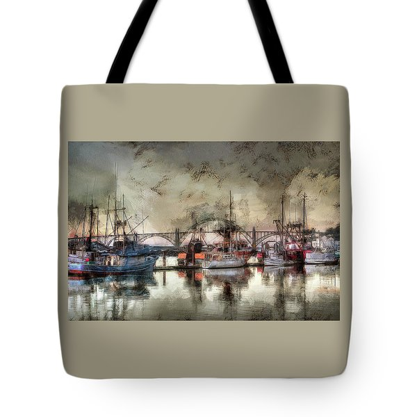 Tote Bag featuring the photograph Along The Bay Front by Thom Zehrfeld