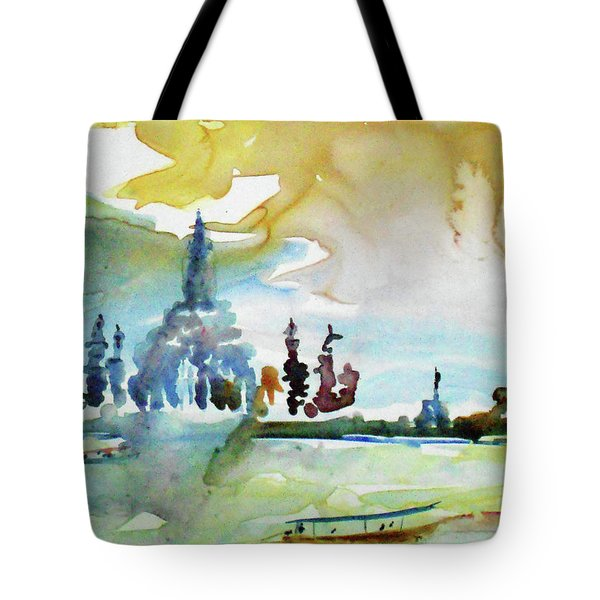 Along The Chao Phaya River Tote Bag