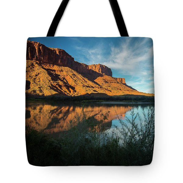 Tote Bag featuring the photograph Along The Colorado by Gary Lengyel