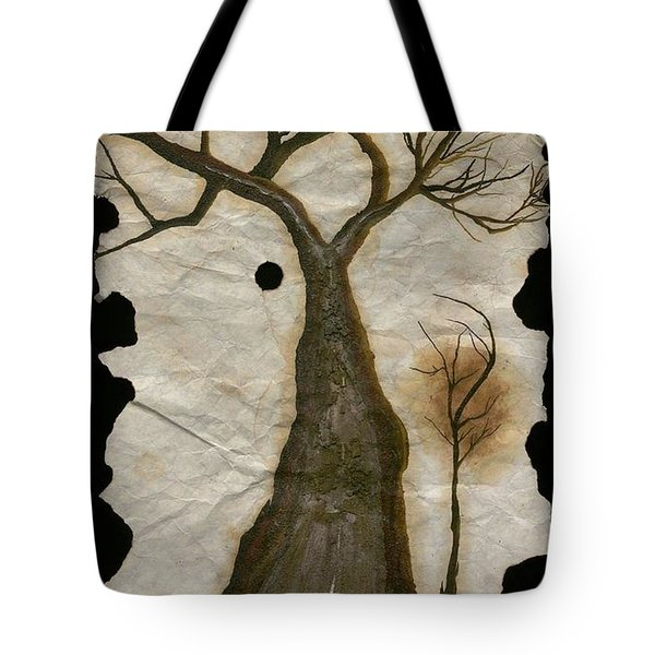 Along The Crumbling Fork In The Road Of The Tree Of Life Acfrtl Tote Bag by Talisa Hartley
