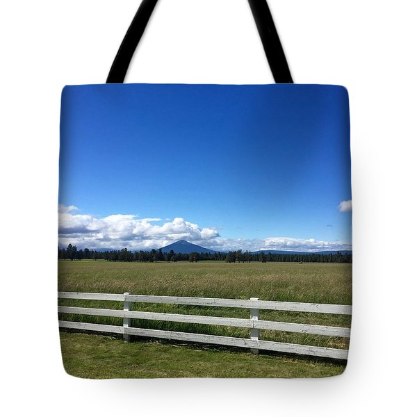 Along The Fence Line Tote Bag
