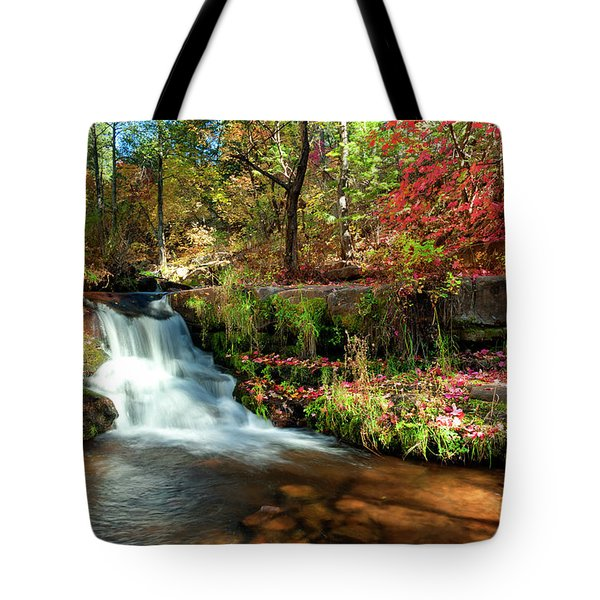 Tote Bag featuring the photograph Along The Horton Trail by Anthony Citro