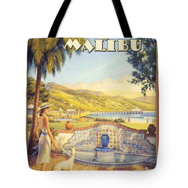 Along The Malibu Tote Bag by Nostalgic Prints