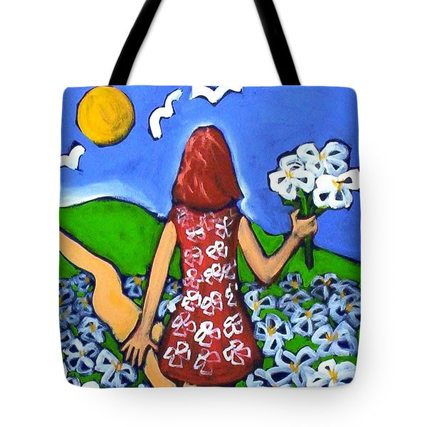 Along The New Path Tote Bag by Winsome Gunning