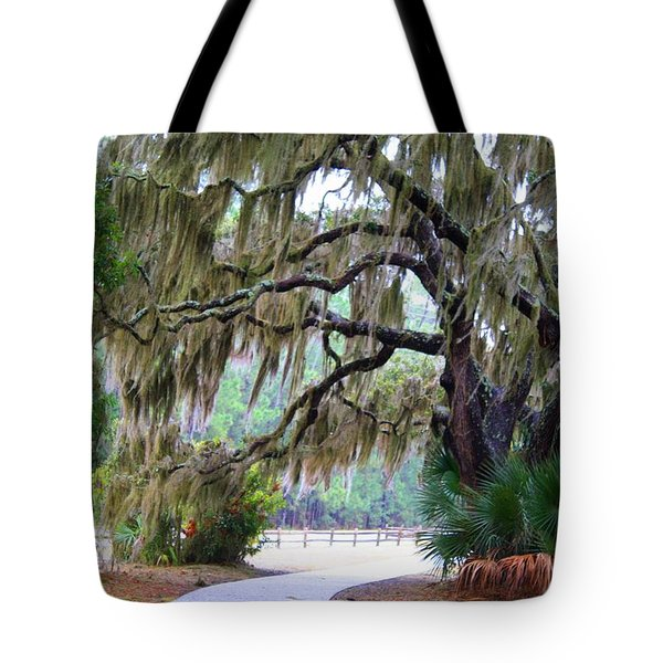 Tote Bag featuring the photograph Along The Path by Kathryn Meyer