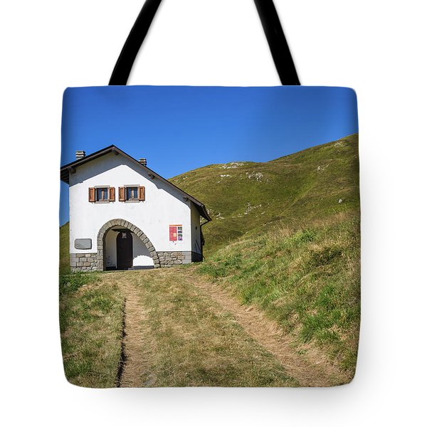 Along The Path Towards The Summit Of The Mountain Tote Bag