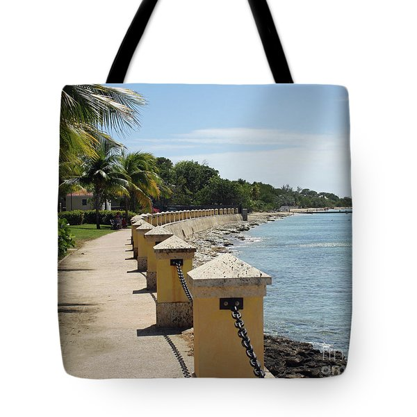Along The Pier Tote Bag