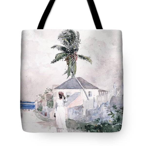 Along The Road   Bahamas 1885 Tote Bag