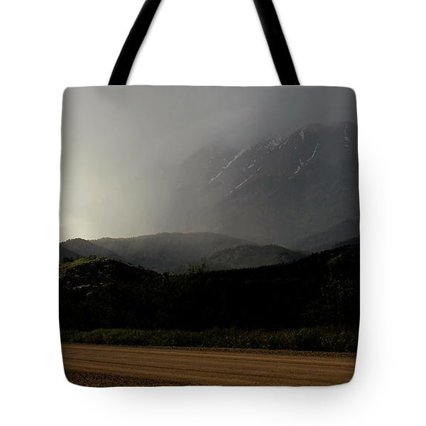 Tote Bag featuring the photograph Along The Road by Silke Brubaker