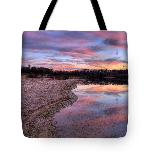 Along The Shoreline Tote Bag by John Loreaux
