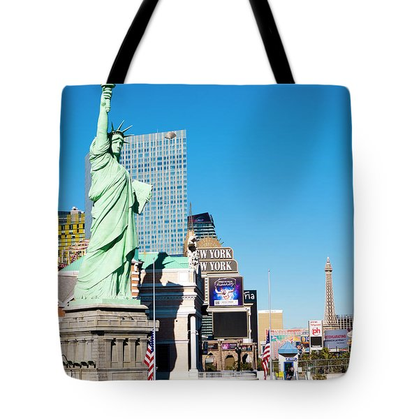 Along The Strip Tote Bag by Rae Tucker