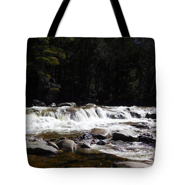 Along The Swift River Tote Bag