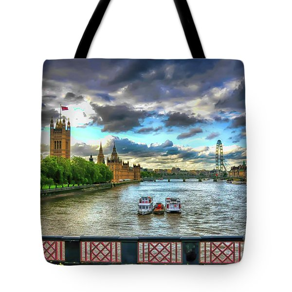 Along The Thames Tote Bag