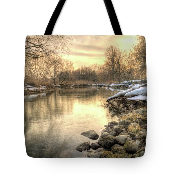 Along The Thames River Signed Tote Bag