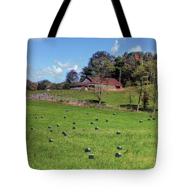 Tote Bag featuring the digital art Along The Tracks by Sharon Batdorf