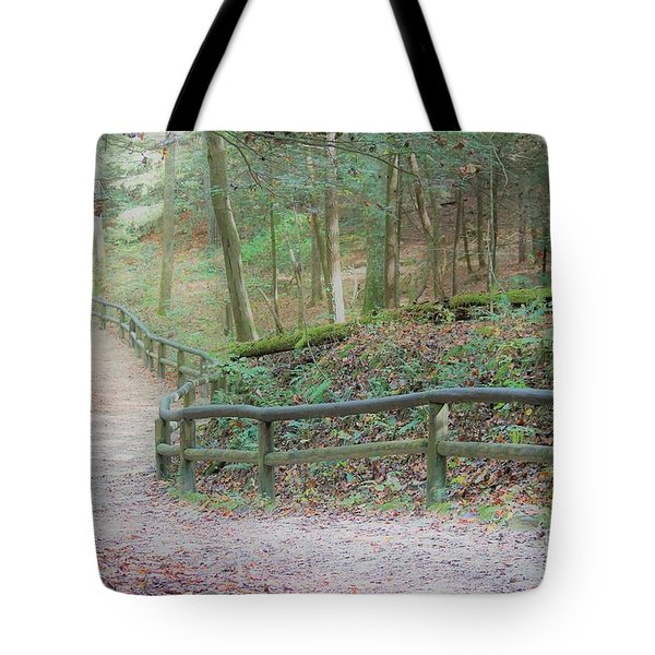 Along The Trail, Life Happens Tote Bag