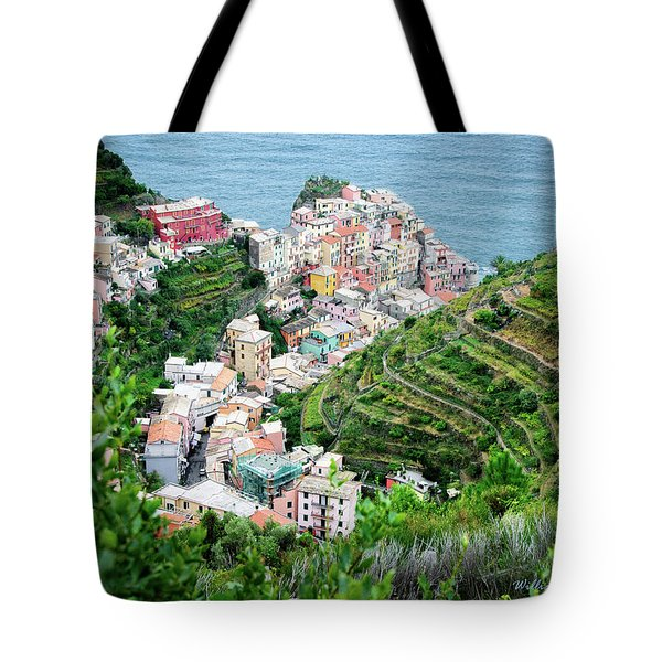 Along The Via Del Amore Tote Bag by William Beuther