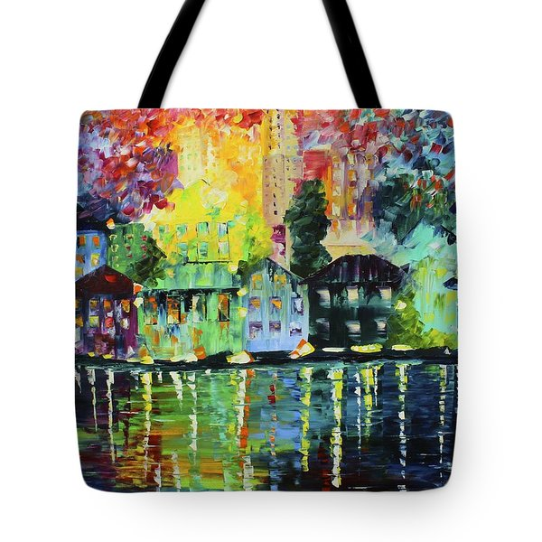 Along The Water Tote Bag