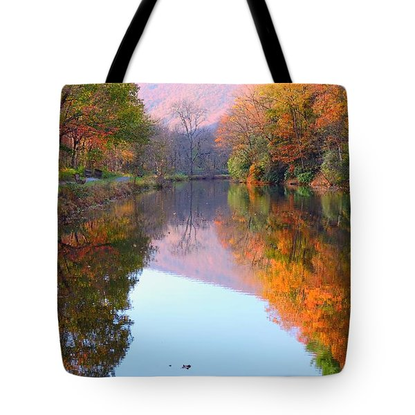 Along These Autumn Days Tote Bag