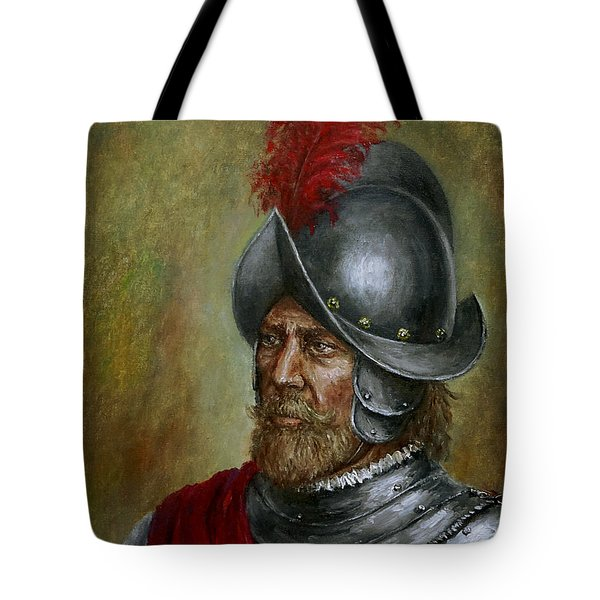 Alonso De Alvarado Tote Bag by Arturas Slapsys