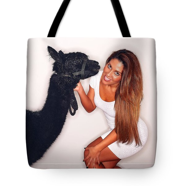 Alpaca Emily And Breanna Tote Bag