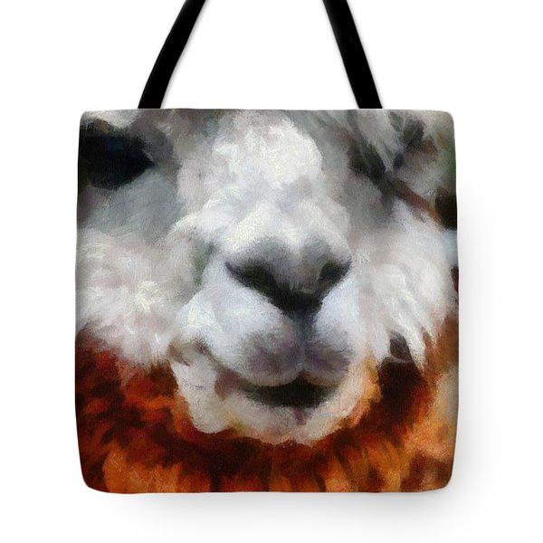 Alpaca Tote Bag by Michelle Calkins