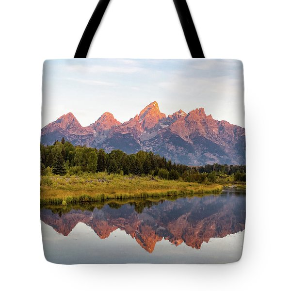 Tote Bag featuring the photograph Alpen Glow by Mary Hone
