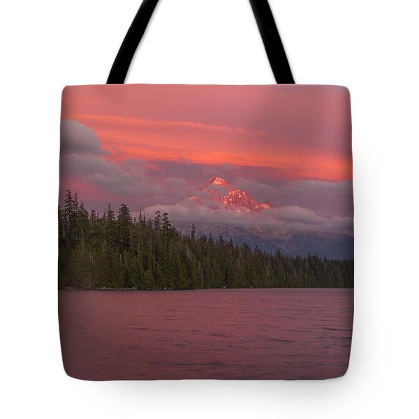 Alpenglow At Lost Lake Tote Bag