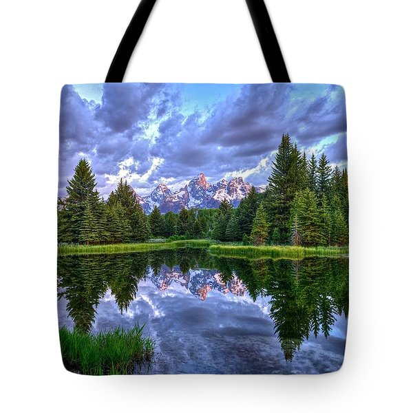 Alpenglow In The Tetons Tote Bag