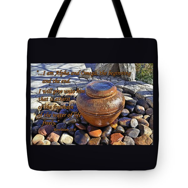 Alpha And Omega Tote Bag by Larry Bishop