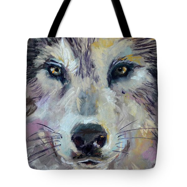 Tote Bag featuring the pastel Alpha by Pattie Wall