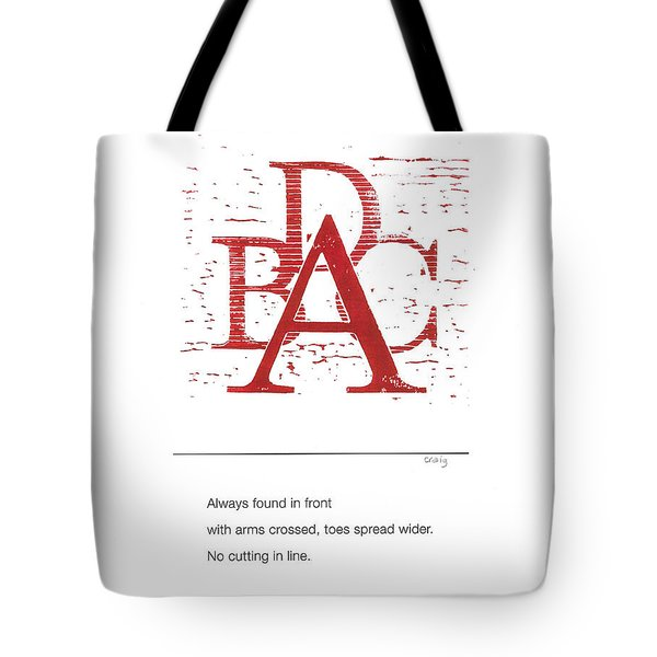 Alphabet Haiku Letter A Tote Bag