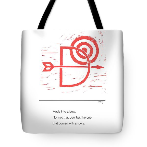 Alphabet Haiku Letter D Tote Bag