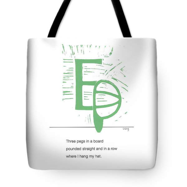 Alphabet Haiku Letter E Tote Bag