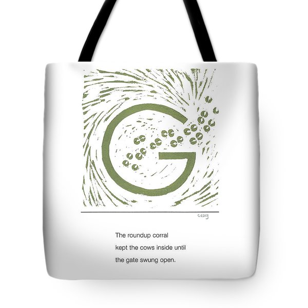 Alphabet Haiku Letter G Tote Bag