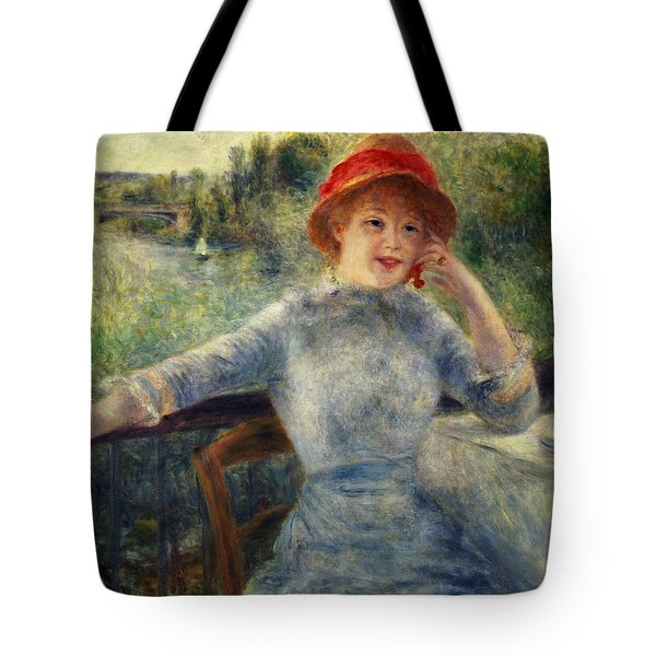 Alphonsine Fournaise Tote Bag by Pierre Auguste Renoir