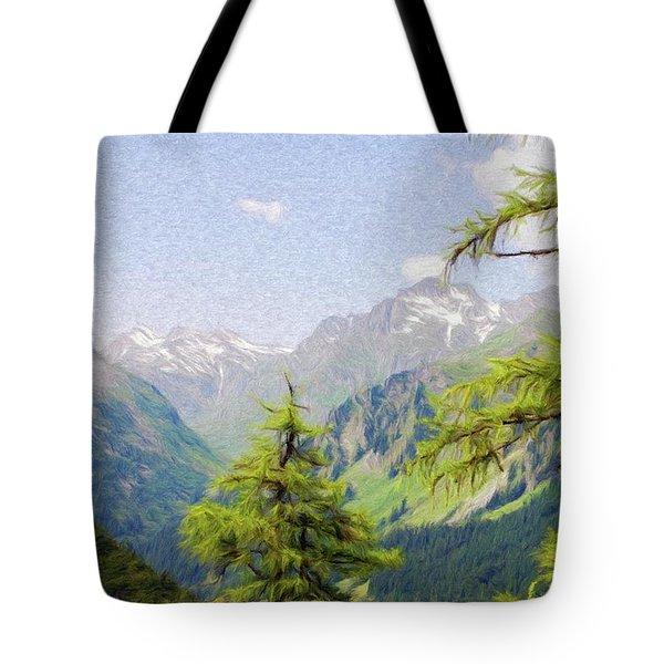 Alpine Altitude Tote Bag by Jeffrey Kolker