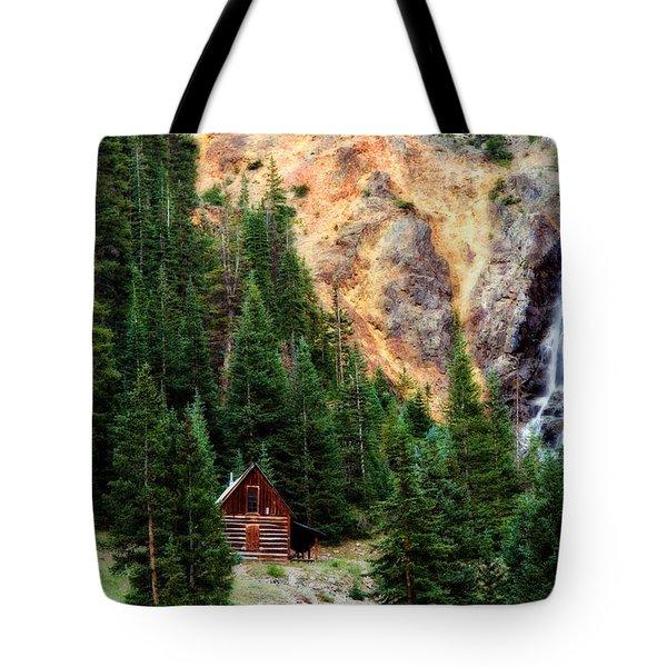 Alpine Cabin Tote Bag